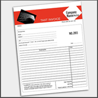 NCR Form 2 Side Printed