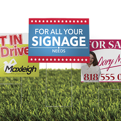 Custom Size 6mm Corrugated Signs
