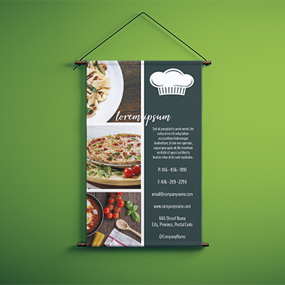 1 Hr Custom Size 13oz Vinyl Banner