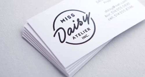 22pt White Uncoated Business Cards