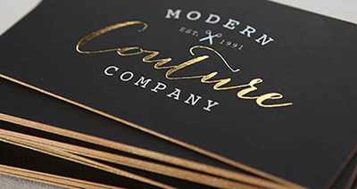 32PT SOFT TOUCH LAMINATED + FOIL BUSINESS CARDS