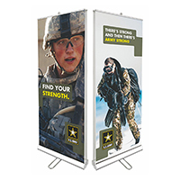 Roll up Banners 31.5x79 2 side