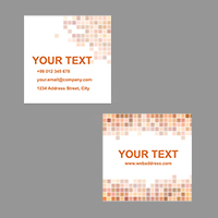 24Hr Square Business Cards 1 Side