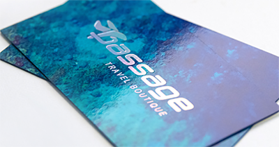 24PT SUPER GLOSS LAMINATED BUSINESS CARDS