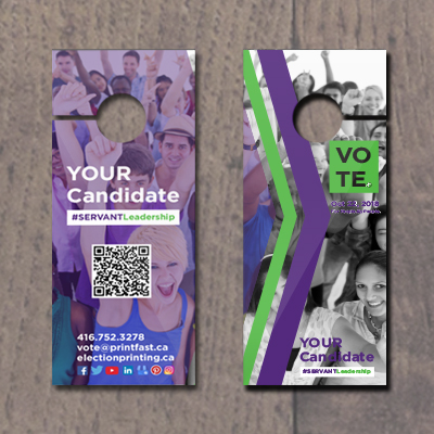 Door Hangers/Vote at Cards