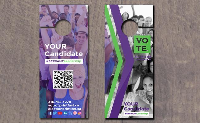 Door Hangers/Vote at Cards