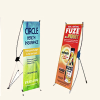 Mini Table Top X-Banner Stand 1 side