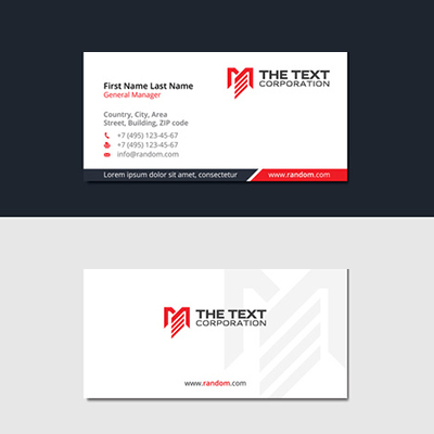 Slim Business Cards 1 Side